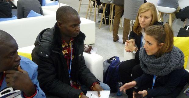 SRzG-Botschafterin Anna Braam bei der UN-Weltklimakonferenz 2015