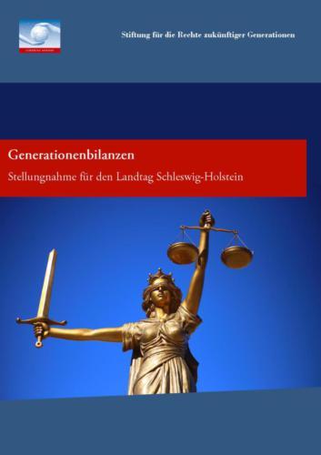 Generationenbilanzen. Stellungnahme für den Landtag Schleswig-Holstein (2013)