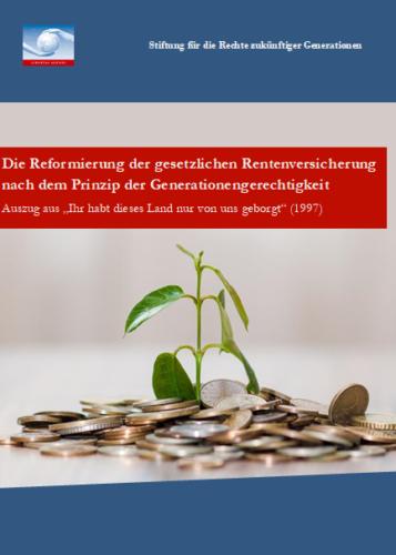 Deckblatt Rentenreform Auszug