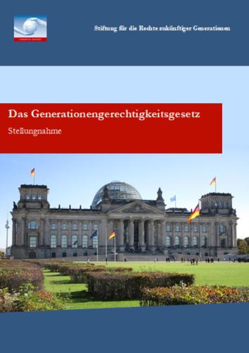 Stellungnahme Generationengerechtigkeitsgestz (2008)