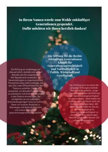 Spendenurkunde Weihnachtsbaum